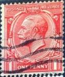 Sellos de Europa - Reino Unido -  Intercambio 1,10 usd 1 p. 1912