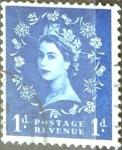 Sellos de Europa - Reino Unido -  Intercambio 0,20 usd 1 p. 1953