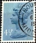 Sellos de Europa - Reino Unido -  Intercambio 0,20 usd 4,5 p. 1973