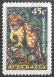 Sellos de Oceania - Australia -  Spotted tailed quoll-quoll tigre