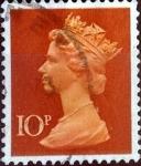 Sellos de Europa - Reino Unido -  Intercambio 0,35 usd 10 p. 1971