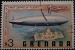 Sellos de America - Granada -  Zeppelin over White House
