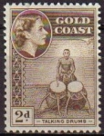 Stamps America - Virgin Islands -  COSTA DE ORO GOLD COAST 1952 Yvert155  Sello Nuevo Serie Basica