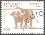 Sellos de Africa - Benin -  Syncerus caffer-búfalo cafre