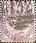 Sellos de Europa - Reino Unido -  Intercambio 2,00 usd 1 p. 1881