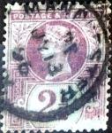 Stamps : Europe : United_Kingdom :  Intercambio 3,25 usd 2,5 p. 1887