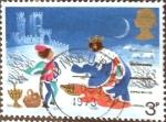 Stamps : Europe : United_Kingdom :  Intercambio 0,35 usd 3 p. 1973