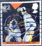 Stamps United Kingdom -  Intercambio 0,60 usd 22 p. 1991