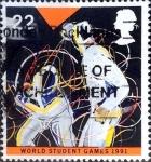 Sellos de Europa - Reino Unido -  Intercambio 0,60 usd 22 p. 1991