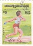 Stamps : Asia : Cambodia :  olimpiada de Los Angeles-84
