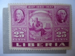 Stamps Liberia -  1847-1860-1947-100 años.(Yvert/278 - Mi/387)