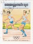 Stamps : Asia : Cambodia :  olimpiada de Los Angeles