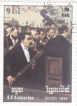 Stamps Cambodia -  orquesta