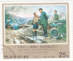Stamps North Korea -  pintura