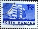 Stamps Romania -  Intercambio 0,20 usd 1,55 l. 1973