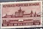 Sellos de Europa - Rumania -  Intercambio 0,30 usd 55 b. 1954