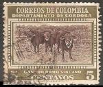 Stamps Colombia -  Ganado romo