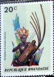 Stamps : Africa : Rwanda :  Intercambio 0,20 usd 20 cent. 1973