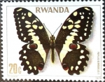 Stamps : Africa : Rwanda :  Intercambio aexa 0,20 usd 20 cent. 1979