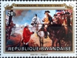 Stamps : Africa : Rwanda :  Intercambio 0,20 usd 20 cent. 1976