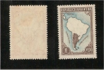 Stamps America - Argentina -  mapa de argentina (sin limites)