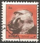Sellos de Asia - Bahrein -  Monos