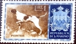 Stamps : Europe : San_Marino :  Intercambio 0,25 usd 1 l. 1956