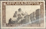 Stamps San Marino -  Intercambio crxf 0,40 usd 5 cent. 1935