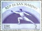 Sellos del Mundo : Europa : San_Marino : Intercambio nfxb 0,25 usd 2 l. 1954