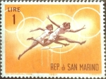 Stamps : Europe : San_Marino :  Intercambio 0,20 usd 1 l. 1963