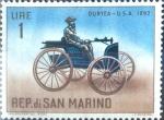 Sellos del Mundo : Europa : San_Marino : Intercambio 0,20 usd 1 l. 1962