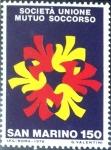 Stamps : Europe : San_Marino :  Intercambio crxf 0,25 usd 150 l. 1976