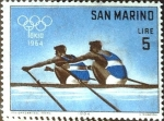 Stamps : Europe : San_Marino :  Intercambio 0,20 usd 5 l. 1964