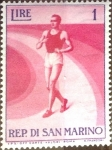 Stamps : Europe : San_Marino :  Intercambio 0,25 usd 1 l. 1954