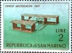 Stamps : Europe : San_Marino :  Intercambio jxa 0,20 usd 2 l. 1962
