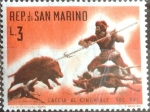 Stamps : Europe : San_Marino :  Intercambio 0,20 usd 3 l. 1961
