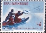 Sellos de Europa - San Marino -  Intercambio crxf2 0,20 usd 4 l. 1961