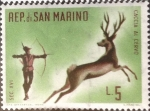 Stamps San Marino -  Intercambio nfxb 0,20 usd 5 l. 1961