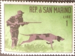 Stamps : Europe : San_Marino :  Intercambio 0,20 usd 1 l. 1962
