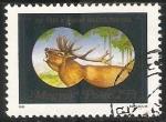 Stamps Hungary -  ciervo en la noche