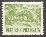 Sellos de Asia - India -  Trenggiling-oso hormiguero