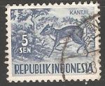 Sellos de Asia - India -  Kantjil,pequeño ciervo