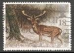 Sellos del Mundo : Europa : Reino_Unido : Winter time- ciervo