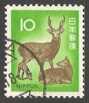 Sellos de Asia - Japón -  Ciervo