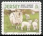 Sellos del Mundo : Europa : Reino_Unido : Jersey-ovejas