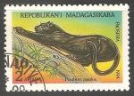 Sellos del Mundo : Africa : Madagascar : Panthera pardus- leopardo