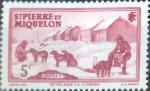 Stamps : America : San_Pierre_&_Miquelon :  Intercambio crxf 0,20 usd 5 cent. 1938