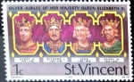 Stamps : America : Saint_Vincent_and_the_Grenadines :  Intercambio nfxb 0,20 usd 1 cent. 1977