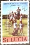 Sellos del Mundo : America : Santa_Lucia : Intercambio nfxb 0,20 usd 1/2 cent. 1977