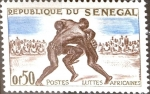 Stamps : Africa : Senegal :  Intercambio 0,20 usd 50 cent. 1961